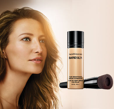 bareMinerals Bareskin Serum Foundation & Perfecting Brush Duo