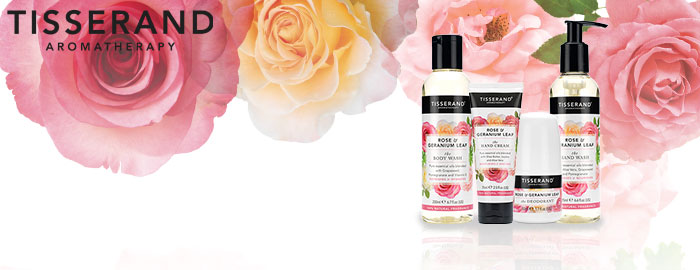 Tisserand Rose & Geranium Bath and Body Range