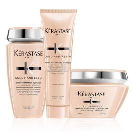 Kérastase Curl Manifesto Shampoo 250ml, Conditioner 250ml & Butter Masque 200ml Pack