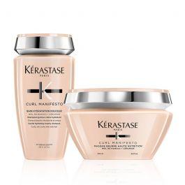 Kérastase Curl Manifesto Bain Hydratation Douceur Shampoo 250ml & Nourishing Butter Hair Masque 200ml Duo