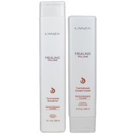 L'ANZA Healing Volume Shampoo 300ml & Healing Volume Conditioner 250ml Duo