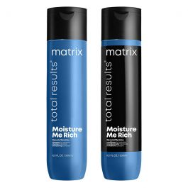 Matrix Total Results Moisture Me Rich Shampoo 300ml & Conditioner for Dry Hair 300ml Duo