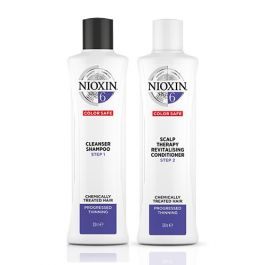 Nioxin System 6 Cleanser Shampoo 300ml and Scalp Therapy Revitalizing Conditioner 300ml for Chemically-Treated Hair with Progressed Thinning Duo