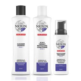 Nioxin System 6 Shampoo 300ml, Therapy Revitalizing Conditioner 300ml and Scalp & Hair Treatment 100ml for Chemically-Treated Hair with Progressed Thinning Pack