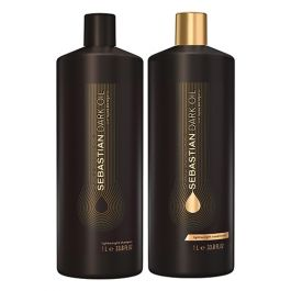 Sebastian Professional Dark Oil Lightweight Shampoo & Conditioner 1000ml Duo