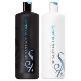 Sebastian Professional Trilliance Shampoo 1000ml and Conditioner 1000ml Duo