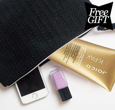 Joico Free Black Clutch Bag
