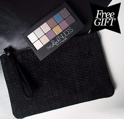 Free Eyeshadow Palette and Clutch Bag