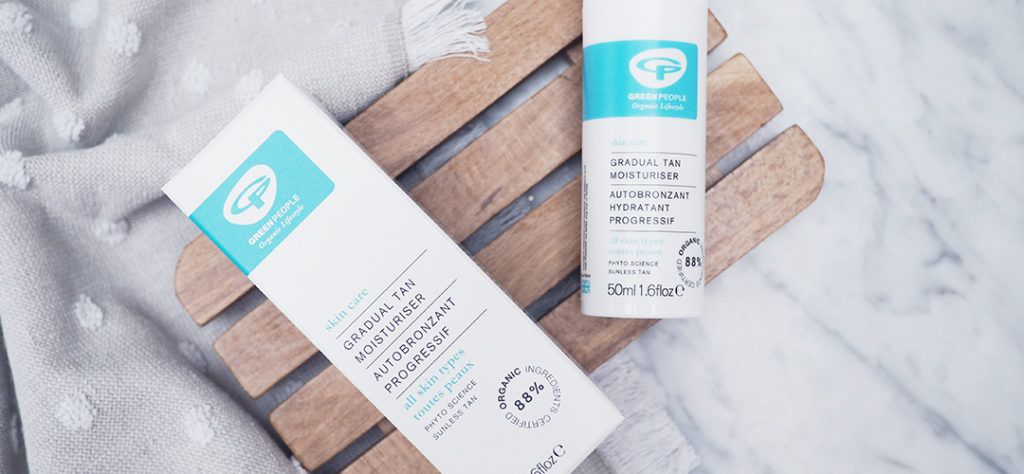 skincare products in recyclable packaging from Green People