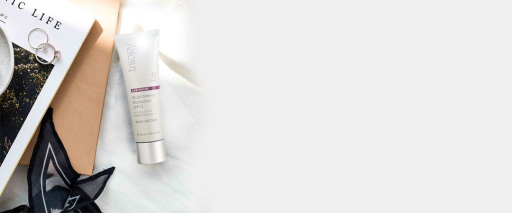 face moisturiser with spf from trilogy