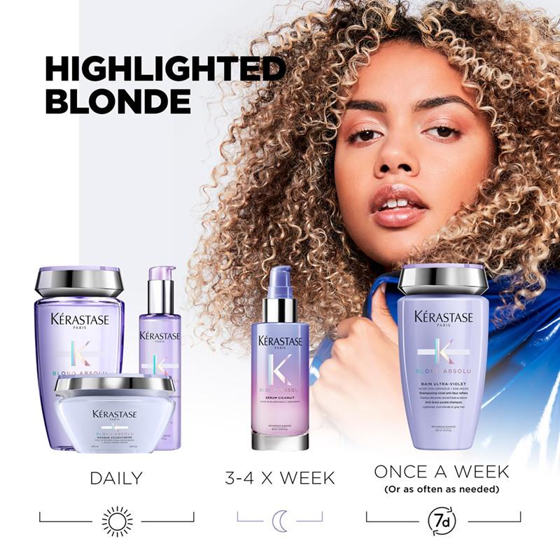 Kérastase Blond Absolu regime for highlighted blonde hair
