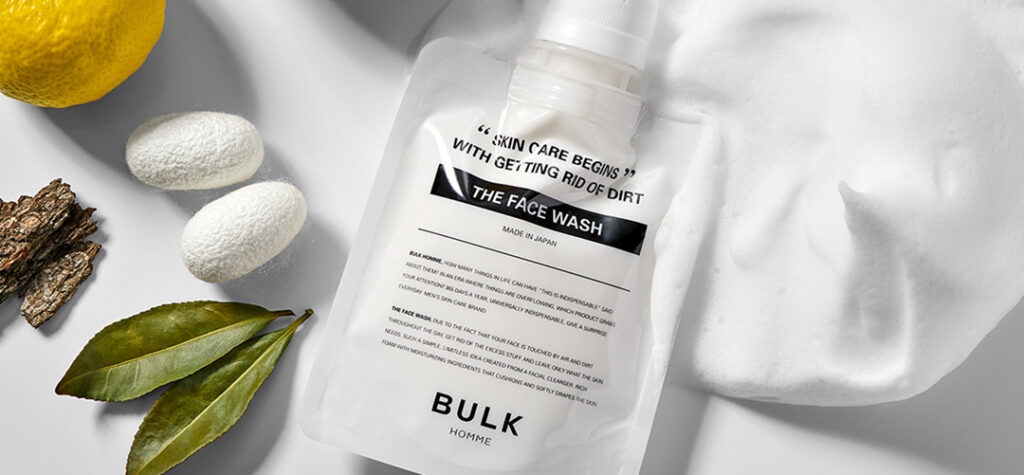 bulk homme face wash for a skincare routine for men